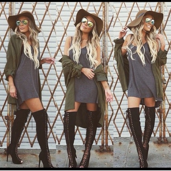 Lolashoetique lace up thigh high boots